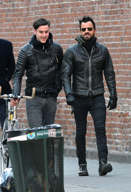 Justin Theroux et son frère Sebastian, New York, 4 mars 2013