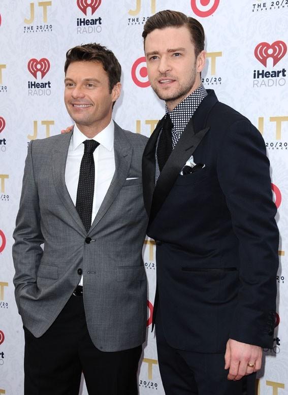 Justin Timberlake à la soirée de lancement de son album The 20/20 experience à Los Angeles le 18 mars 2013