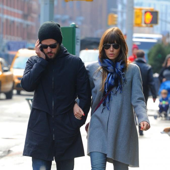 Justin Timberlake et Jessica Biel à New York, le 4 décembre 2012.