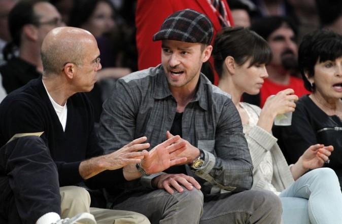Justin Timberlake, très excité par le match !