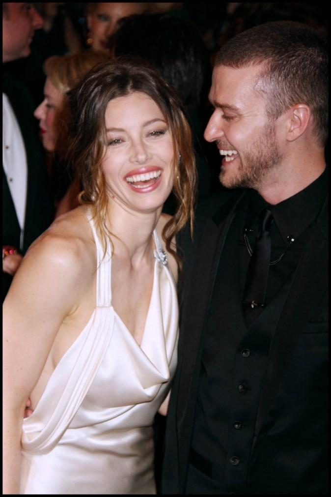 Justin Timberlake et sa compagne Jessica Biel...