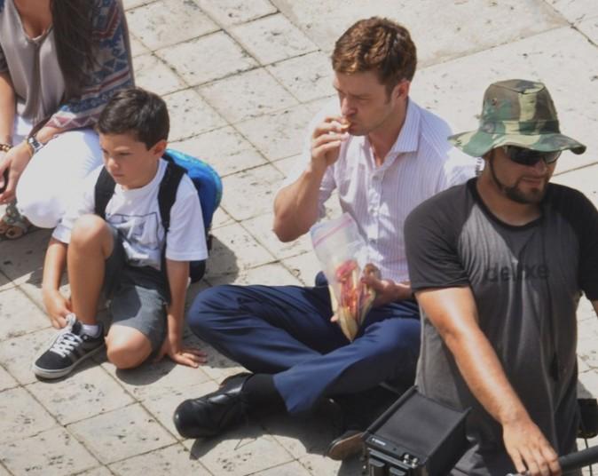 Justin Timberlake sur le tournage de Runner, runner à Puerto Rico le 20 août 2012