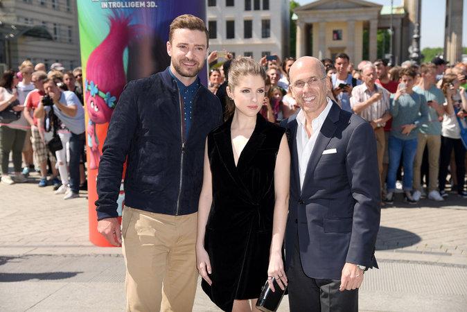 """Justin Timberlake et Anna Kendrick à Berlin pour la promotion du film d'animation """"Trolls"""""""