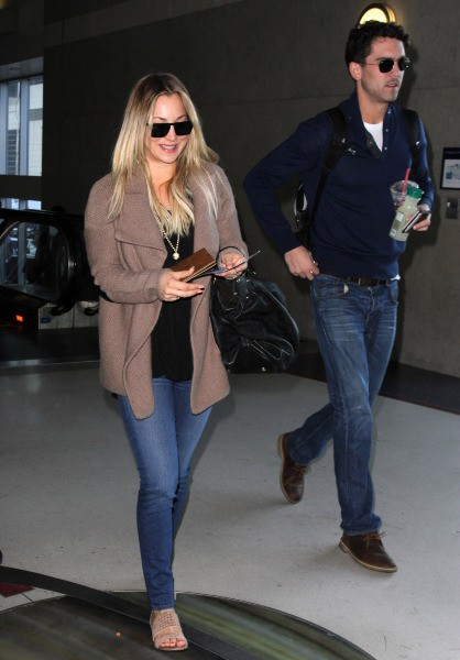 Kaley Cuoco et Ryan Sweeting à Los Angeles, le 27 novembre 2013.