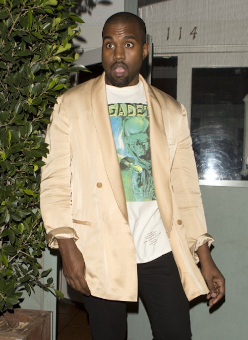 Kanye West lors des Fashion Los Angeles Awards le 22 janvier 2015 !