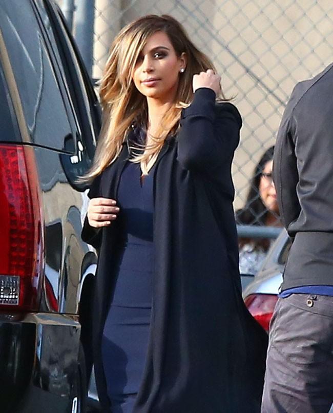 Kim Kardashian à son arrivée au Jimmy Kimmel Live le 9 octobre 2013