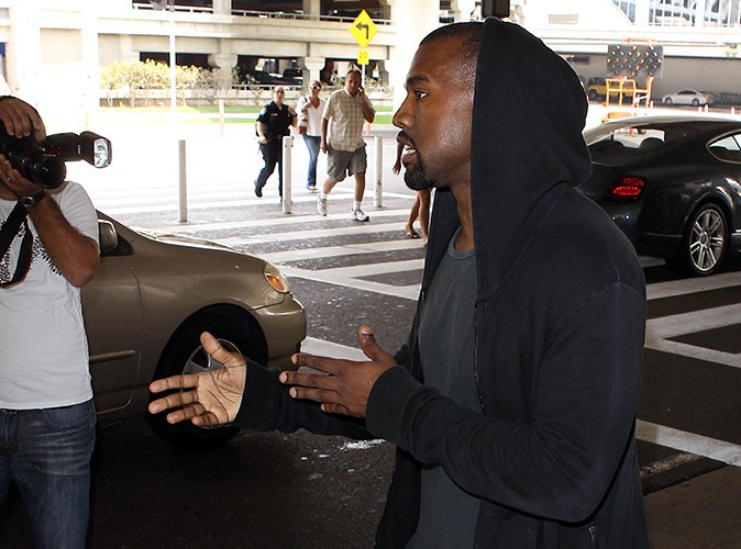 Kanye West à l'aéroport de Los Angeles le 19 juillet 2013