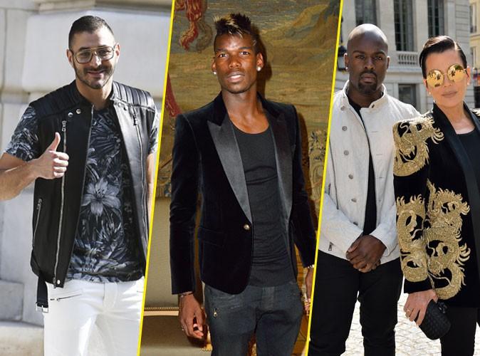 Photos : Karim Benzema, Paul Pogba, Kris Jenner : la crème au défilé Balmain Homme !