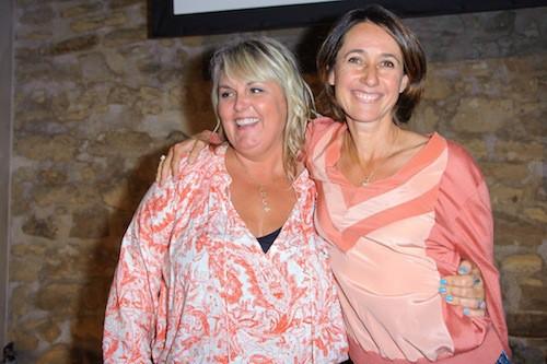 Valérie Damidot et Alexia Laroche-Joubert chez NRJ 12, le 27 août 2015