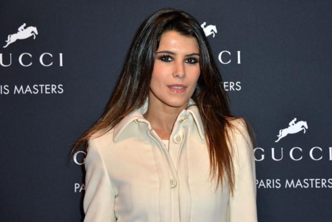Karine Ferri au Gucci Paris Masters le 7 décembre 2014
