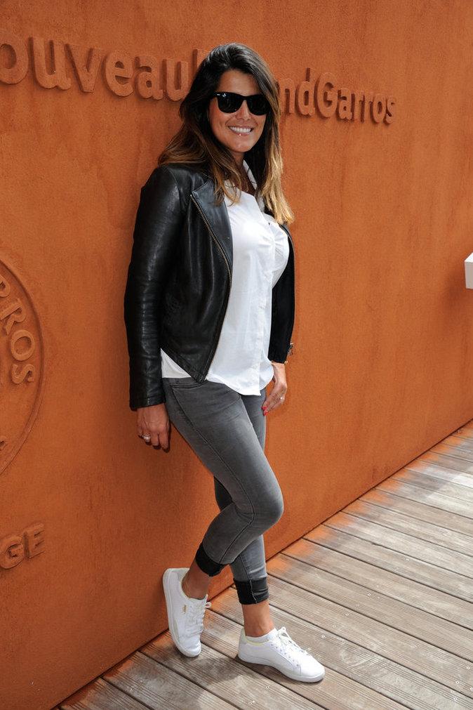 Photos : Karine Ferri : maman radieuse sous le soleil de Roland Garros !