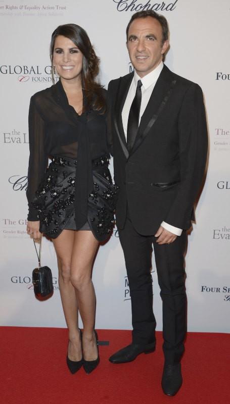 Karine Ferri et Nikos lors du Global Gift Gala à Paris, le 13 mai 2013.