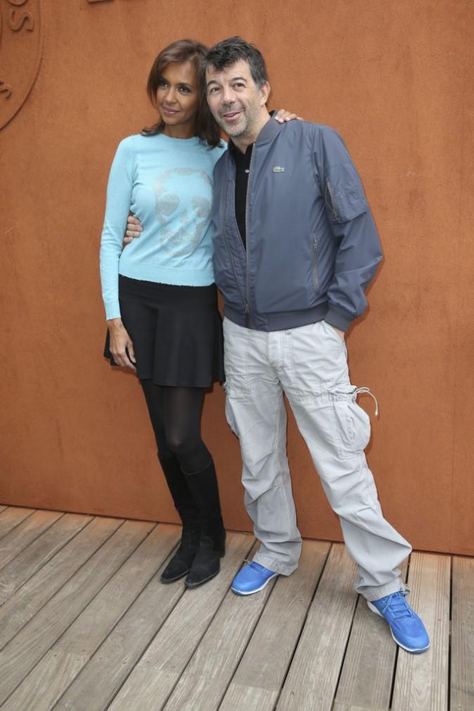 Photos : Karine Le Marchand et Stéphane Plaza : compères et complices au village Roland-Garros !