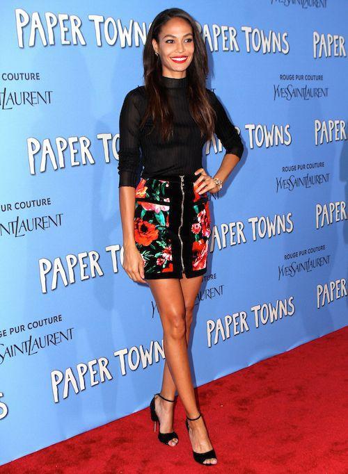 Joan Smalls à la première de Paper Town à New York, le 21 juillet 2015