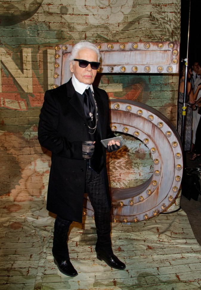 Karl Lagerfeld à New York le 13 octobre 2014