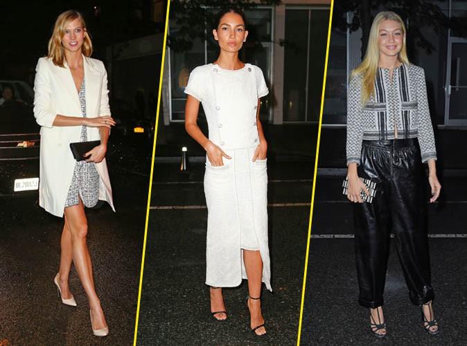 Karlie Kloss, Lily Aldridge, Gigi Hadid... Avalanche de mannequins à la soirée Chanel !