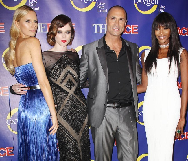 Karolina Kurkova, Coco Rocha, Nigel Barker et Naomi Campbell lors de la première de The Face à New York, le 5 février 2013.