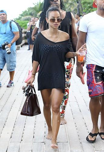 Karrueche Tran à Miami le 23 septembre 2013