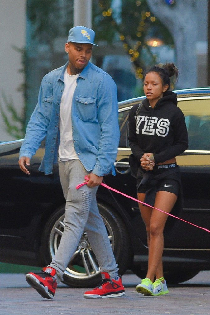 Karrueche Tran et Chris Brown le 26 décembre 2014