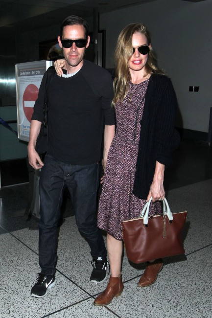 Kate Bosworth et Michael Polish à l'aéroport de Los Angeles, le 2 septembre 2013.