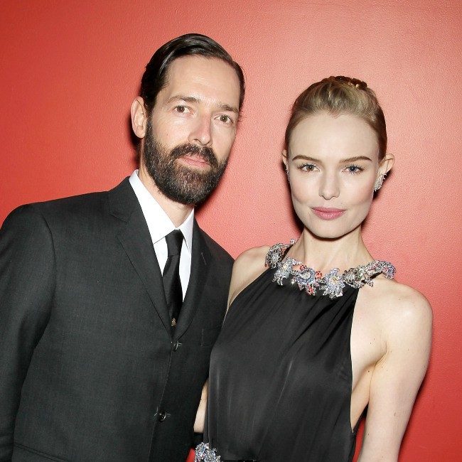 """Kate Bosworth et son mari Michael Polish lors de la première du film """"Big Sur"""" à New York, le 28 octobre 2013."""