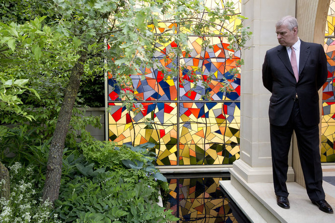 Photos : Le Prince Andrew au Chelsea Flower Show
