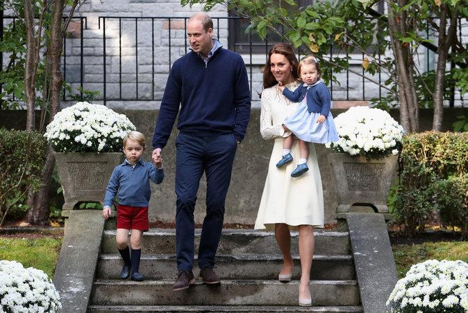 Kate, Wiliam et leurs enfants à Victoria (Canada) le 29 septembre 2016