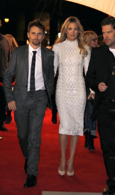 "Kate Hudson et Matthew Bellamy lors de la première du film ""Reluctant Fundamentalist"" à New York, le 22 avril 2013."