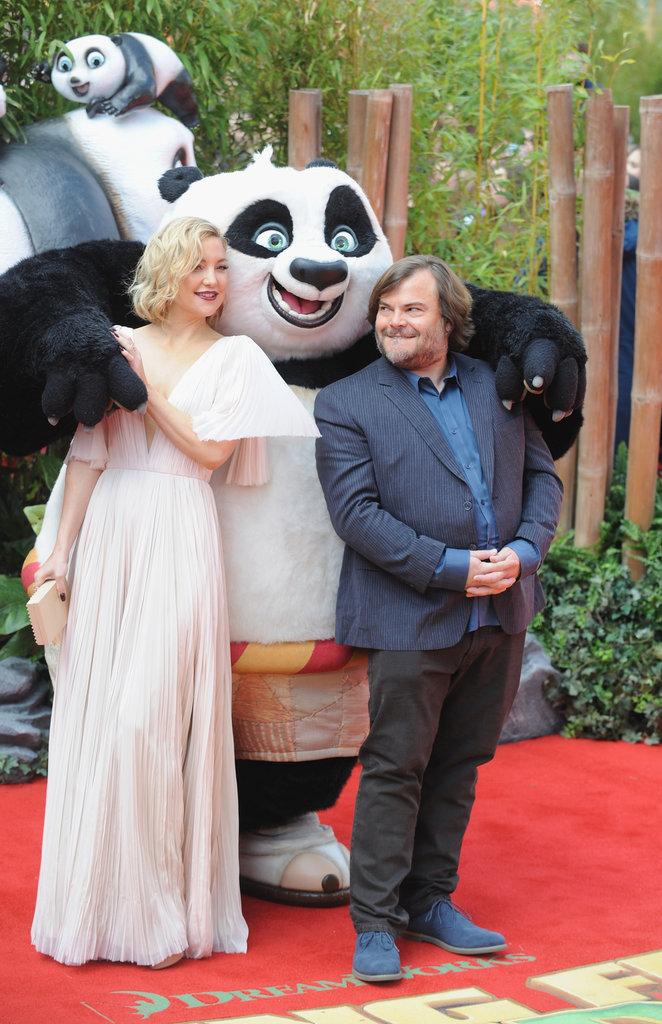 Kate Hudson et Jack Black étaient délurés à la première de Kung Fu Panda