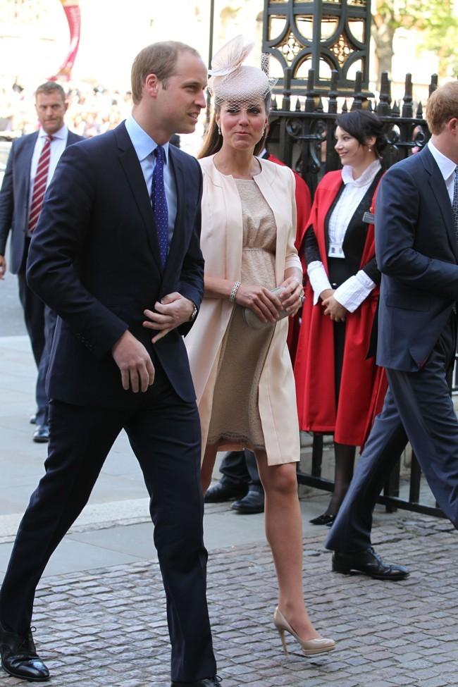 Kate Middleton à l'abbaye de Westminster le 4 juin 2013 pour le 60ème anniversaire du couronnement de la Reine Elizabeth II