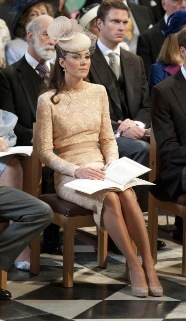 Kate Middleton dans la cathédrale St Paul, le 5 juin 2012.