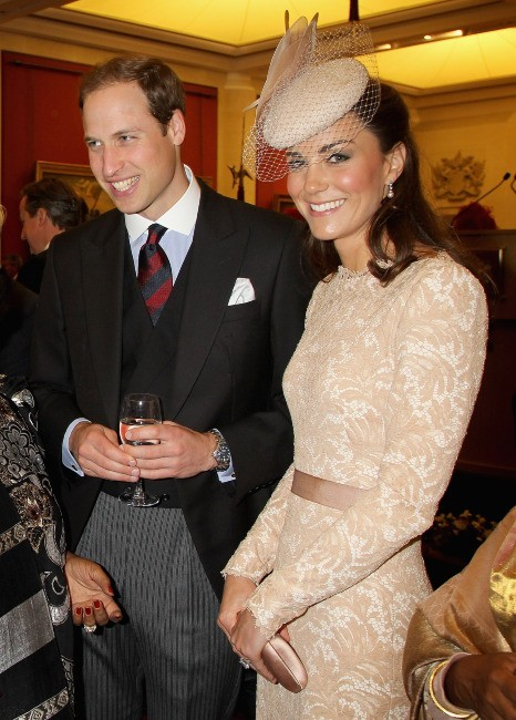 Kate Middleton et le prince William à Guildhall à Londres, le 5 juin 2012.