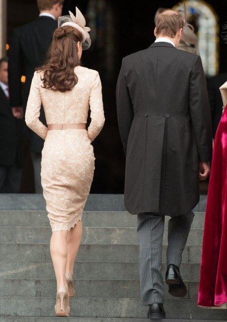 Kate Middleton et le prince William arrivant à la cathédrale St Paul, le 5 juin 2012.