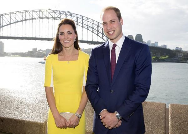 Kate Middleton et le prince William à Sydney, le 16 avril 2014.