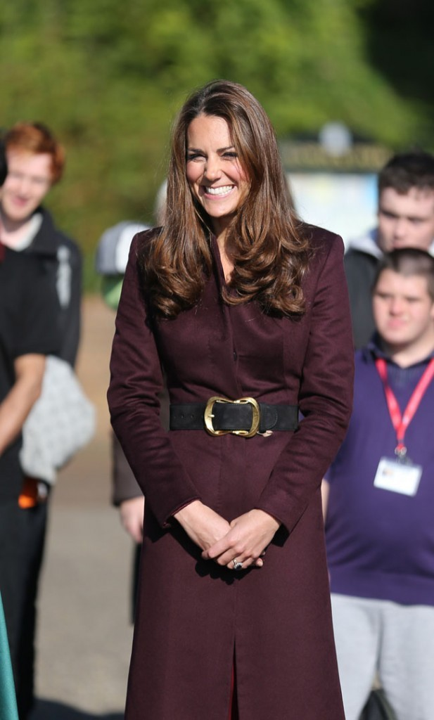 Kate Middleton en solo à Newcastle le 10 octobre 2012