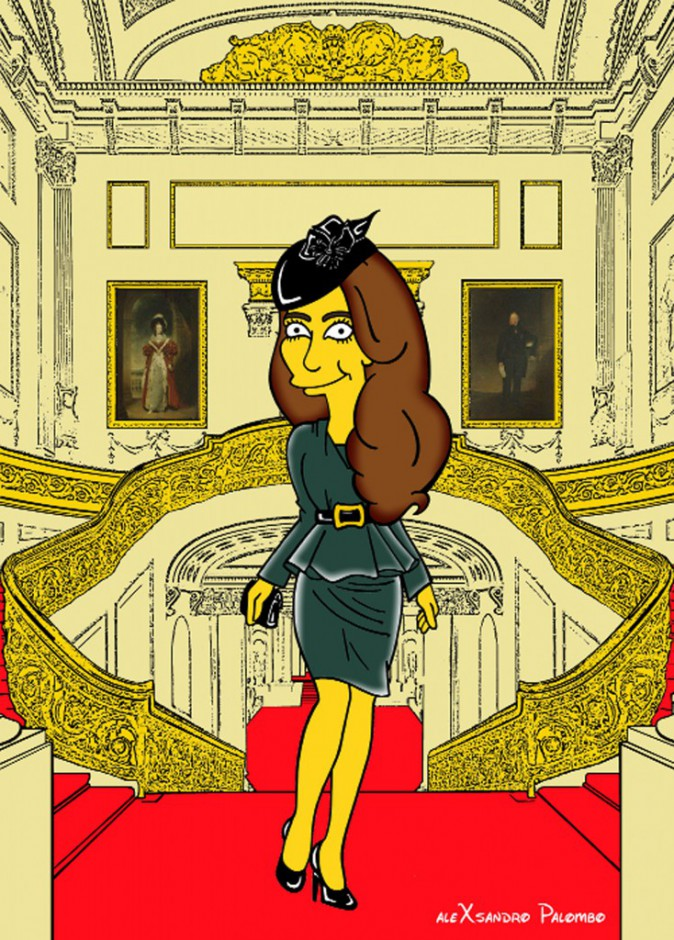 Kate Middleton : elle d�tonne en version Simpson !