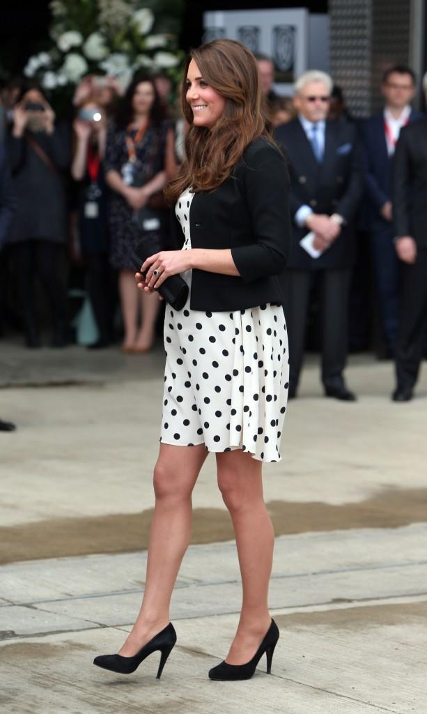 Kate Middleton dans les studios Warner à Leavesden, le 26 avril 2013.