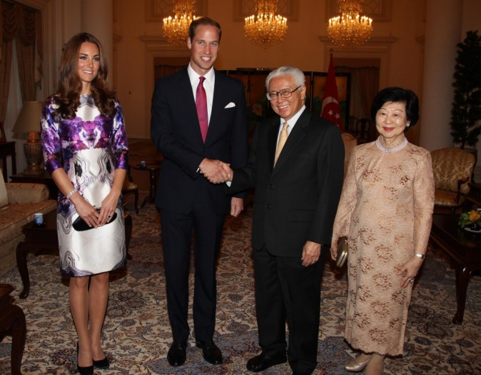 Kate Middleton et le Prince William, Singapour, 11 aout 2012.