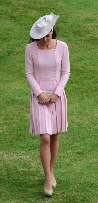"""Kate Middleton lors d'une """"garden party"""" à Buckingham Palace, le 29 mai 2012."""