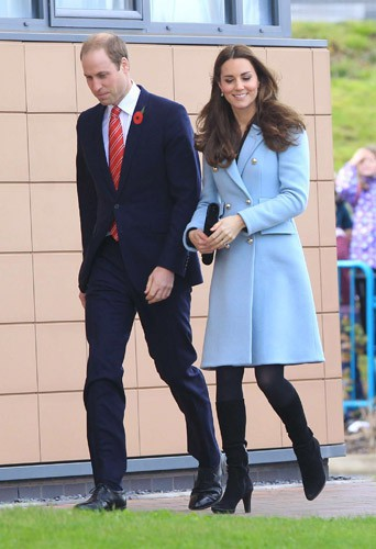 Kate Middleton et le prince William en visite dans le Pays de Galles, le 8 novembre 2014