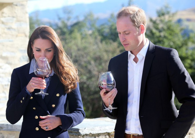 Kate Middleton et le Prince William lors de la visite du vignoble d'Otago Wines Amisfield le 13 avril 2014