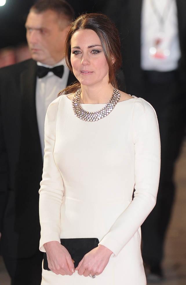"""Kate Middleton et le Prince William à l'avant-première de """"Mandela : Un long chemin vers la liberté"""" à Londres le 5 décembre 2013"""