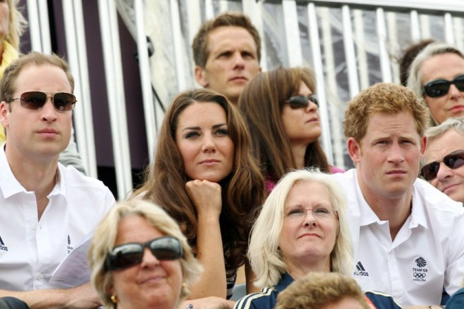Kate Middleton et le Prince William supporters de Zara Phillips aux JO de Londres le 31 juillet 2012