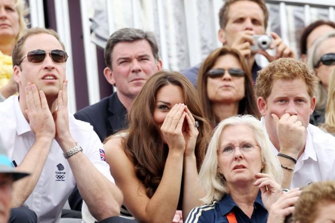 Kate Middleton et le Prince William supporters de Zara Phillips aux JO de Londres le 31 juillet 2012