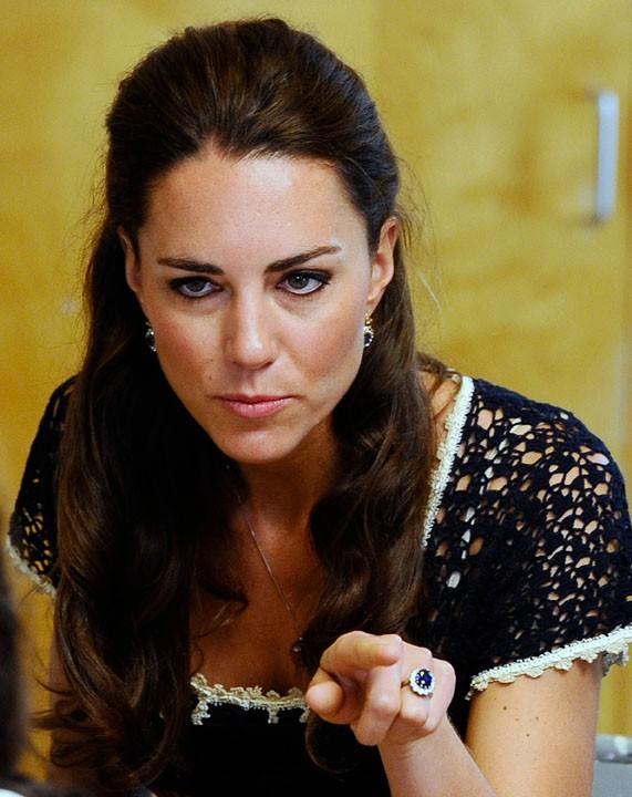 Kate peut aussi faire les gros yeux !
