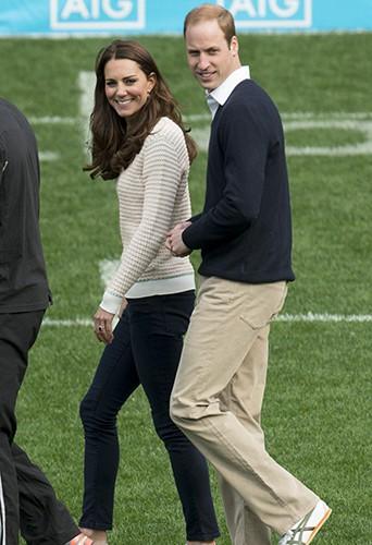 Kate Middleton et le Prince William à Dunedin le 13 avril 2014