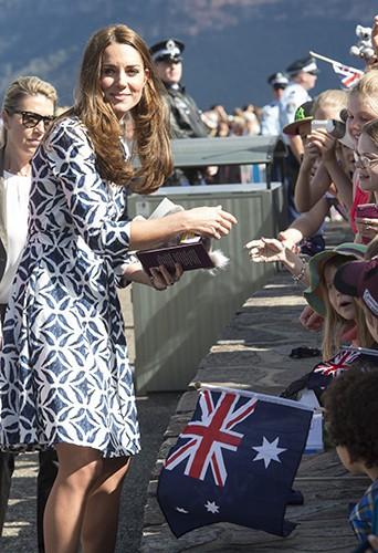 Kate Middleton à Katoomba le 17 avril 2014