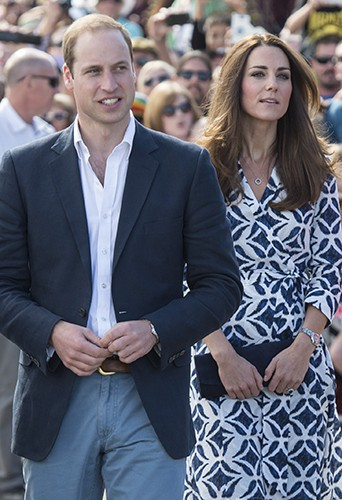Le Prince William et Kate Middleton à Katoomba le 17 avril 2014