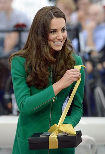 Kate Middleton à Cambridge le 12 avril 2014