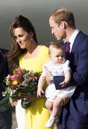 Kate Middleton, le Prince William et le petit George à Sydney le 16 avril 2014